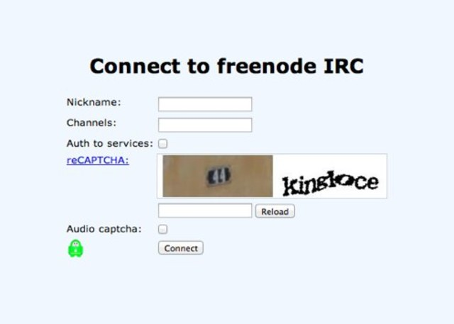 Freenode login